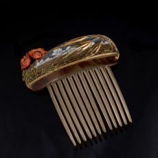 Masriera Art Nouveau hair comb by Masriera Hermanos