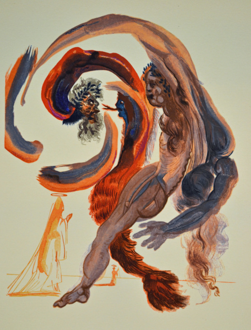 Divina commedia purgatorio 18 by Salvador Dali