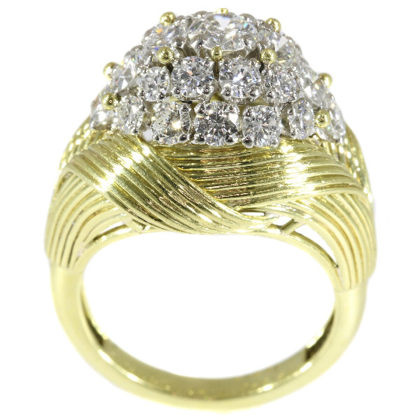 French Vintage Fifties diamond cluster ring by Mauboussin Paris by Mauboussin