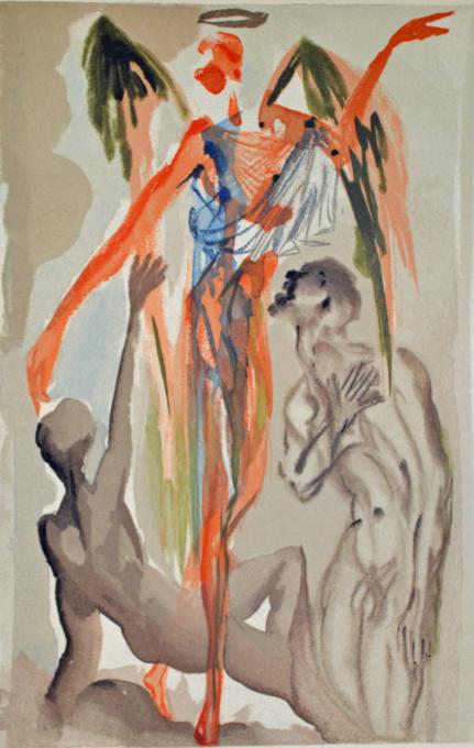 Divina commedia purgatorio 32 by Salvador Dali