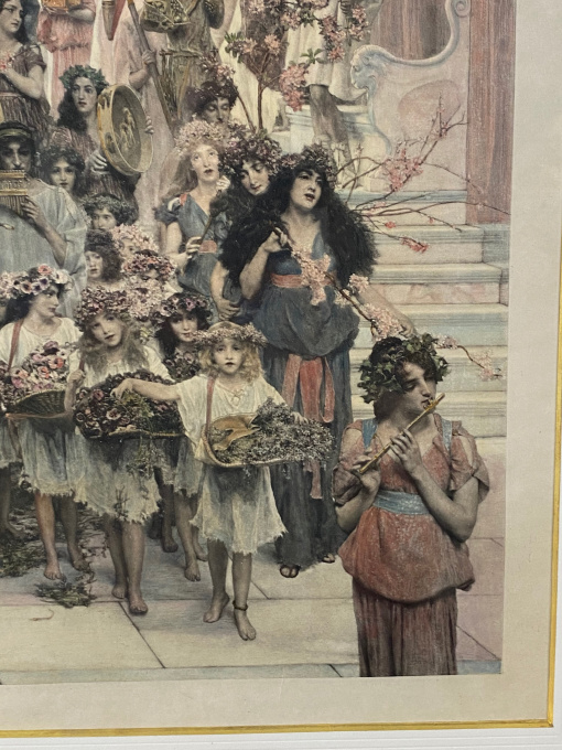 """""""Spring"""" (original photogravure/ print, signed and hand coloured) by Lawrence Alma-Tadema"""