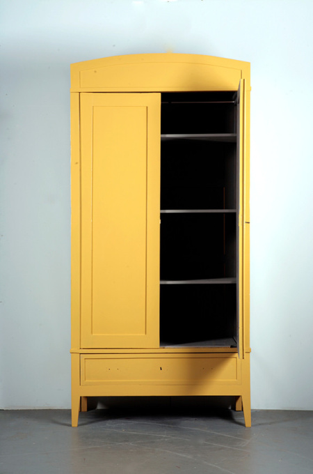 Yellow Art Deco Cabinet by Unknown Artist