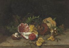 Still Life with Mushrooms by Johannes Evert Akkeringa