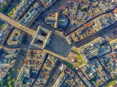 Royal Palace + Dam Square - Amsterdam Aerials by Jeffrey Milstein