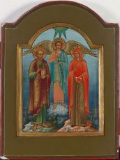 No 12 Miniature Wedding Icon from the Old Believers by Old Believers Workshop