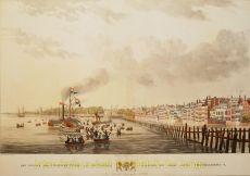 Rotterdam gezicht vanaf de Maas by W.J. Van Oosterzee,
