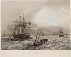 RARE MID 19TH CENTURY VIEW OF RIO DE JANEIRO by Sabatier, Leon Jean-Babtiste (? - 1887)