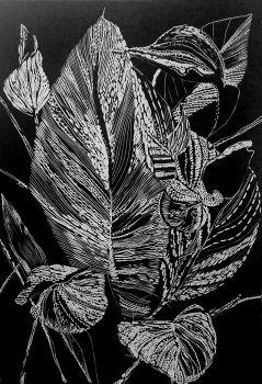 Black leaves  by Magdalena Chmielek