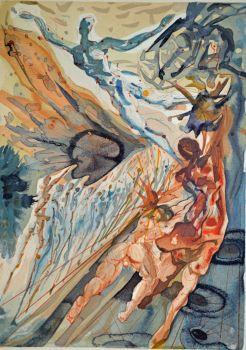 Divina commedia purgatorio 26 by Salvador Dali
