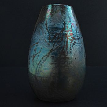 Rare vase with fish and seaweed motifs by Clement Massier