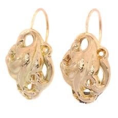 Victorian gold large earrings by Unknown