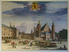 Binnenhof en Buitenhof Den Haag  by  Blaeu