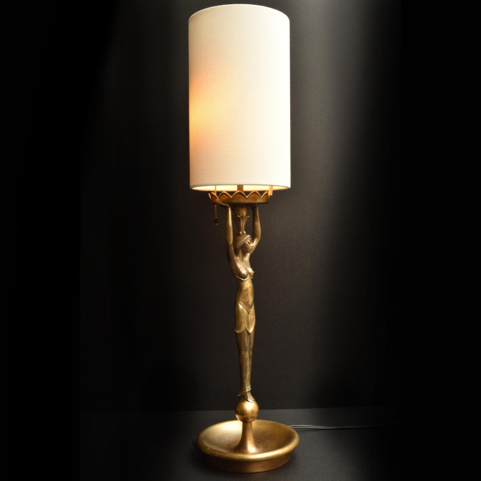 Figural lamp by Ludwig Vierthaler