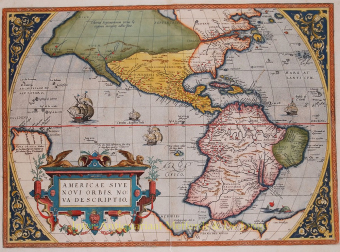 Americae Sive Novi Orbis, Nova Descriptio by Abraham Ortelius