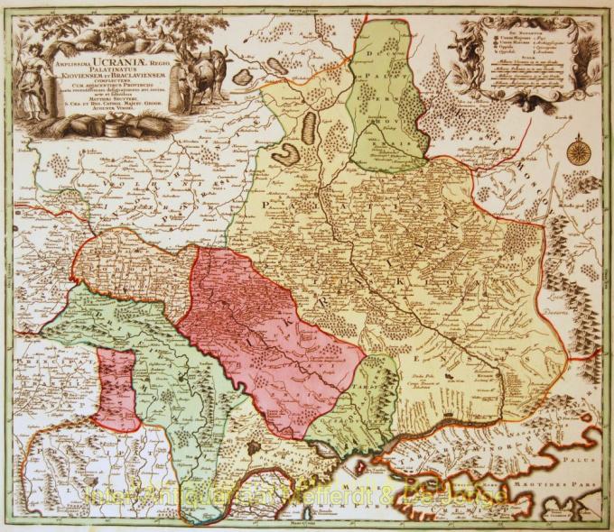Ukraine antique map by Matthias Seutter