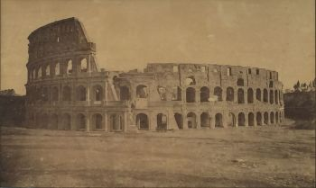 Albumen print of the Colosseum at Rome by Unknown Artist