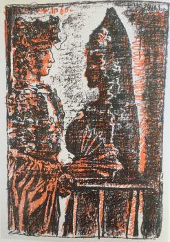 A beautiful 'Torero y Senorita' lithograph by Pablo Picasso by Pablo Picasso
