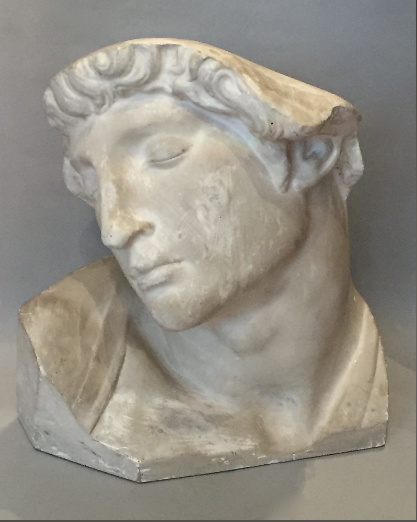 Plaster Bust of Michelangelo's Slave by Unknown Artist