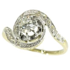 Belle Epoque twirled diamond engagement ring so-called tourbillon model by Unknown Artist