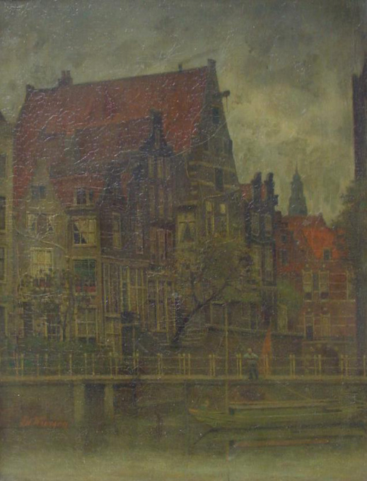 Canal 'Grimburgwal' in Amsterdam by Eduard Karsen