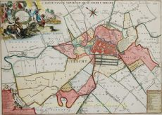 Caerte vande Vryheyd der Stadt Utrecht volgens decisie vanden jare 1539 by Joachim Ottens