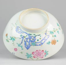 Unusual Famille Rose Chinese taste bowl, (1723-1735)