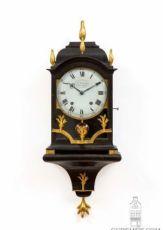 A small Swiss Louis XVI ebonised quarter striking bracket clock, DuComun, circa 1780 by Aime Du Comun Chaux de Fond