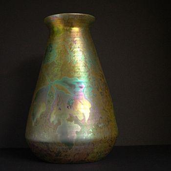 Ceramic art nouveau vase  by Clement Massier