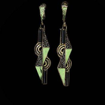 Art deco earrings by Theodor Fahrner