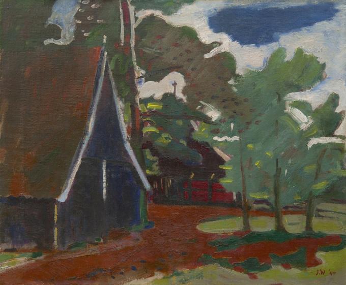A farm in Twenthe by Jan Wiegers