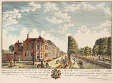 GEZICHT VAN DE BEZUIDENHOUTSEWEG TE 'S GRAVENHAGE  by Scheurleer, Hendrik Florisz. (1692-1768)