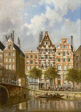 A view on the Nieuwezijds Voorburgwal, Amsterdam