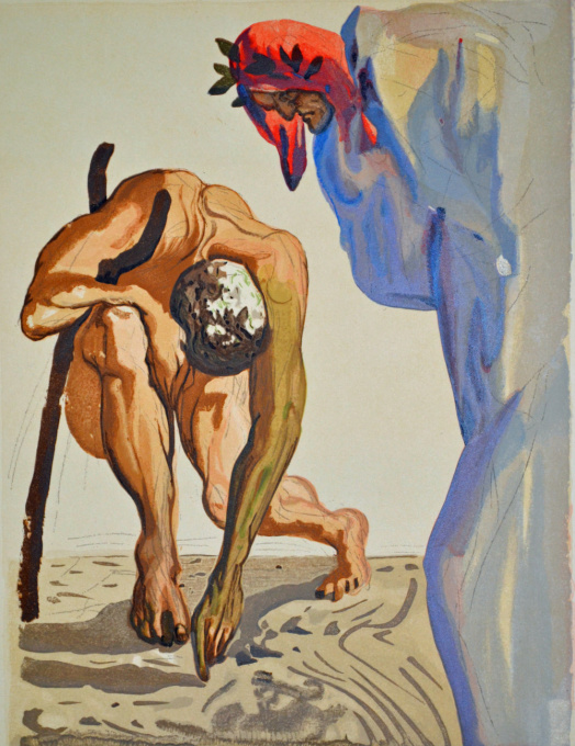 Divina commedia purgatorio 07 by Salvador Dali