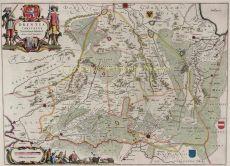 Map of Drenthe by Blaeu, Joan