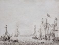 Amsterdam Harbour View by Willem van de Velde the Elder