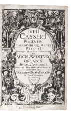 Beautifully illustrated first accurate monograph on the larynx, heavily influenced by Galen by Giulio Casserio