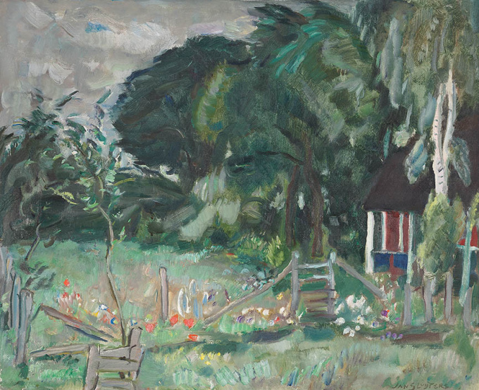 Huisje te Loosdrecht by Jan Sluijters