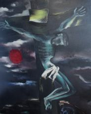 Christus aan het kruis by Tinus van Doorn