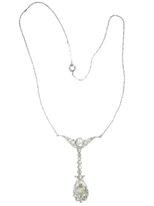 Belle Epoque diamond pendant by Dutch supplier to the court by Unknown
