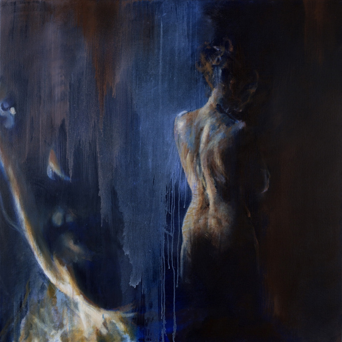 Guided 110 x 110 cm  by Lizette Luijten