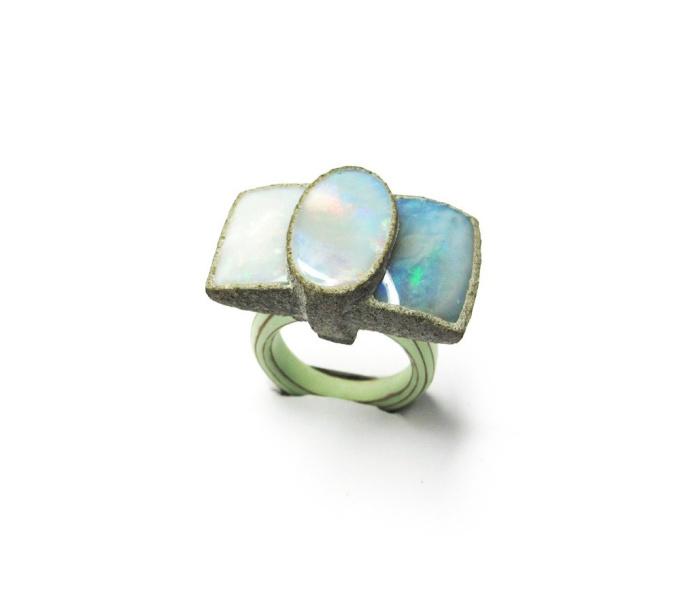 Ring 'Opal Ribbon' by Terhi Tolvanen