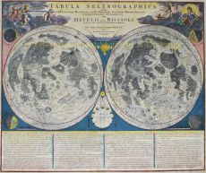 IMPORTANT MAP OF THE MOON     by Doppelmayr, Johann Gabriel (1677-1750)