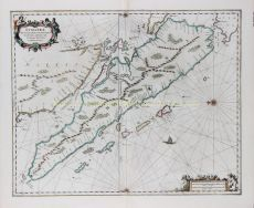 FINE CHART OF SUMATRA AND THE SOUTHERN COASTS OF MALAYSIA by Janssonius