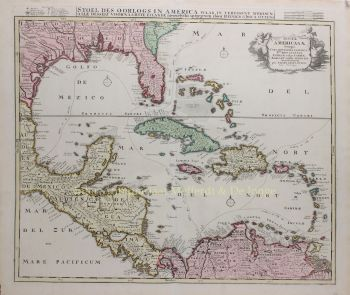Mexican Gulf, Caribbean  by  Ottens