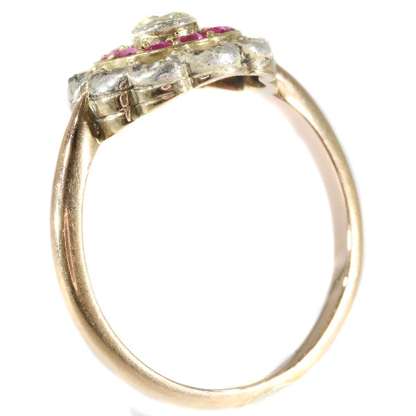 Late Victorian diamond and ruby ring by Unknown Artist