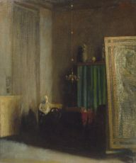 The studio of the painter Willem van Konijnenburg by Georg Rueter