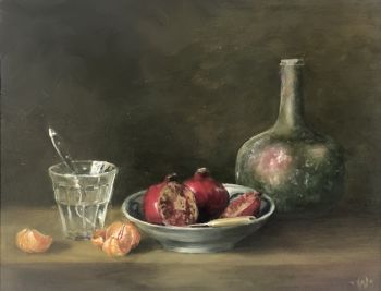 Pomegranates with tangerine by Willeke Timmer