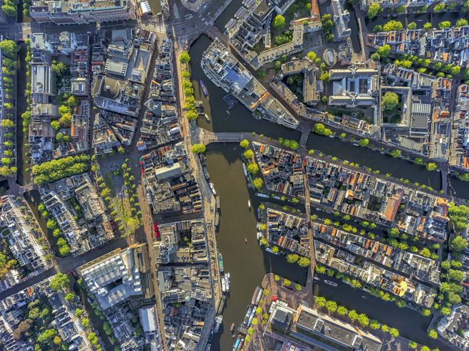 Munt Tower - Amsterdam Aerials by Jeffrey Milstein