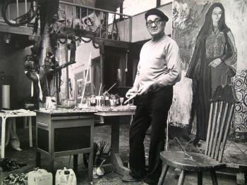 'Charles Eyck in zijn atelier' by Nico Koster