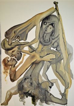 Divina commedia inferno 04 by Salvador Dali